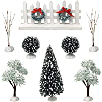 BANBERRY DESIGNS Christmas Village Tree Accessory Set Xmas Decorating DIY Crafting Accessories