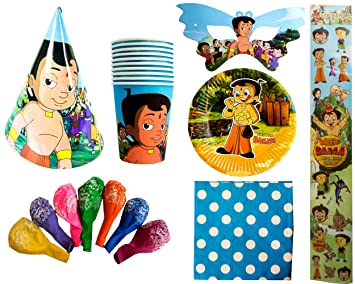 Chota Bheem Birthday Party Combo Pack For 20 Kids Paper Hat Paper