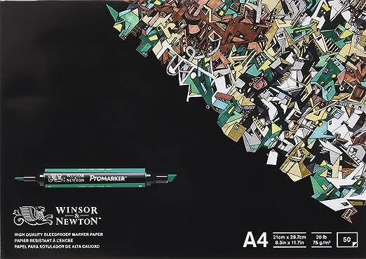 46 opinioni per Winsor & Newton–Blocco di 50fogli di carta per pennarelli, A4