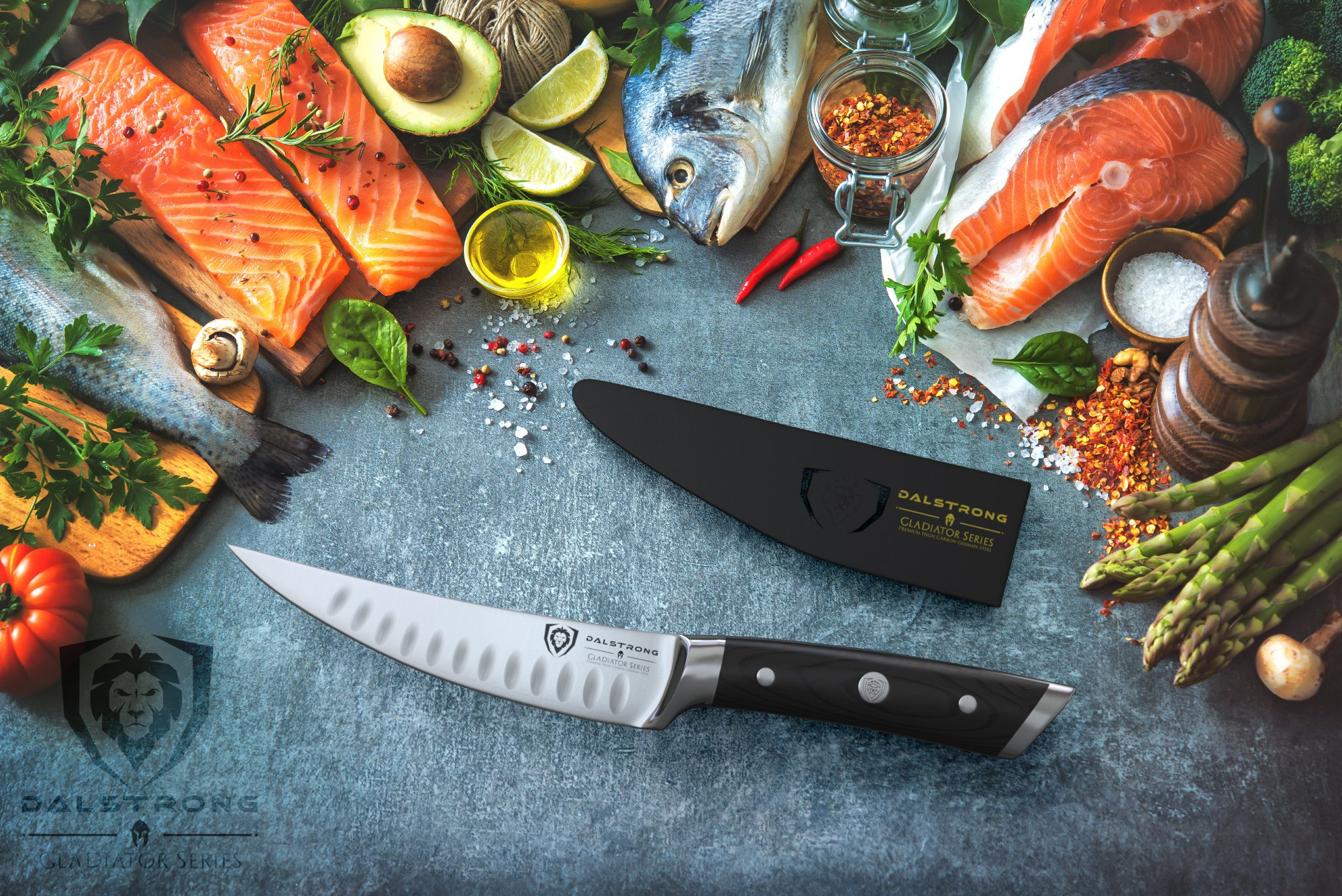DALSTRONG Gladiator Series Filet & Boning Knife- 6''- German HC Steel - Curved Blade - With Sheath by Dalstrong (Image #3)