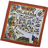 Oklahoma State Souvenir Flour Sack Dish Towel