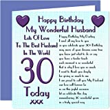 husband 30th birthday card amazon co uk office products