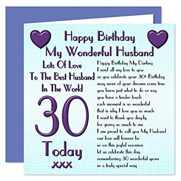 Husband 30th Happy Birthday Card