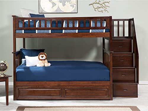 Atlantic Furniture Columbia Staircase Bunk Bed Full Over Full