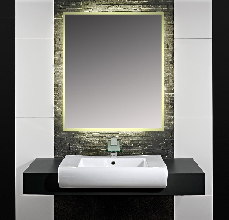 Beleuchteter Badspiegel Hugo B 1800mm x H 800mm – Kaltweiß ...