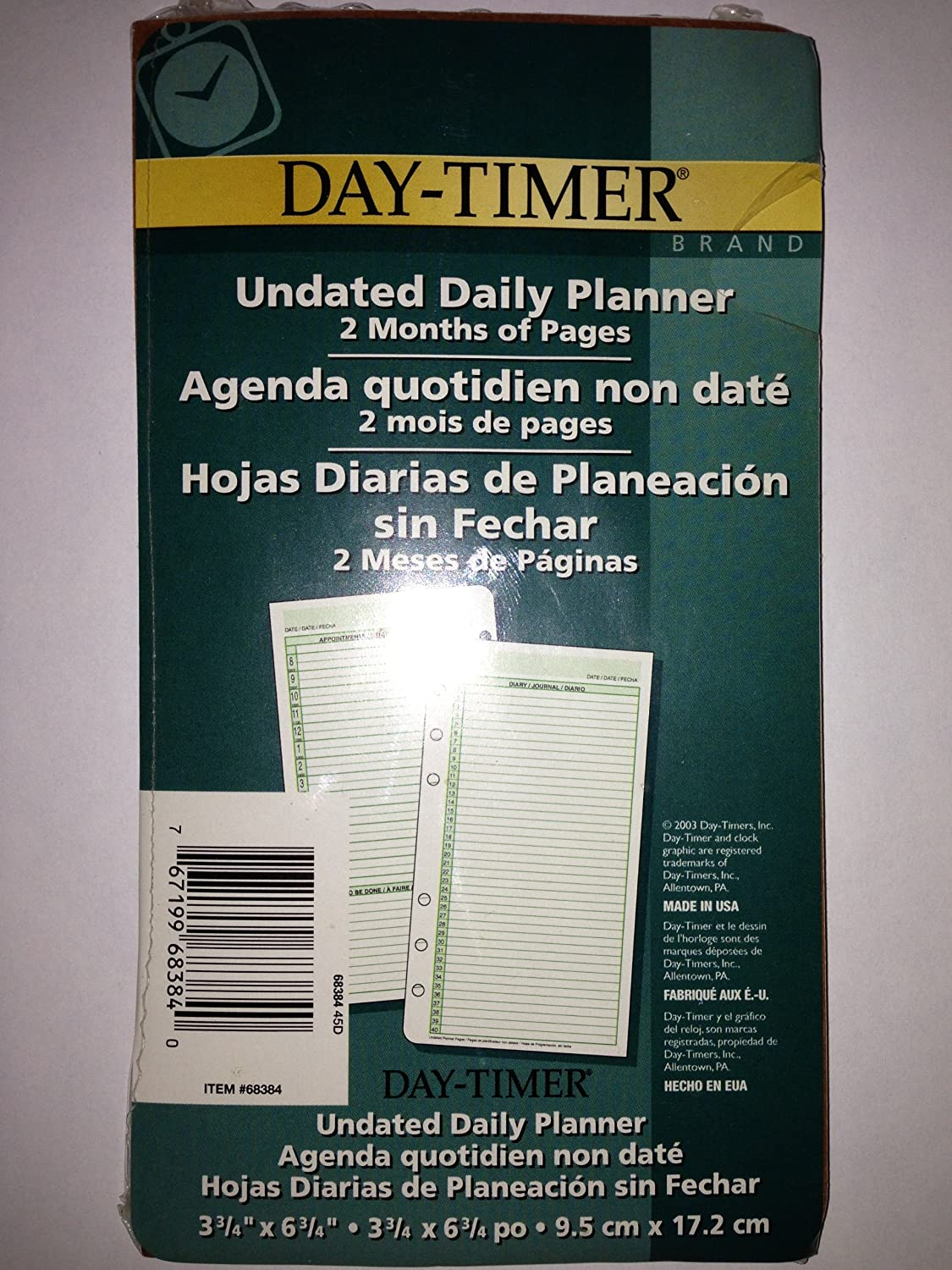 Amazon.com : Day-Timer Undated Daily Planner 2 Months of ...