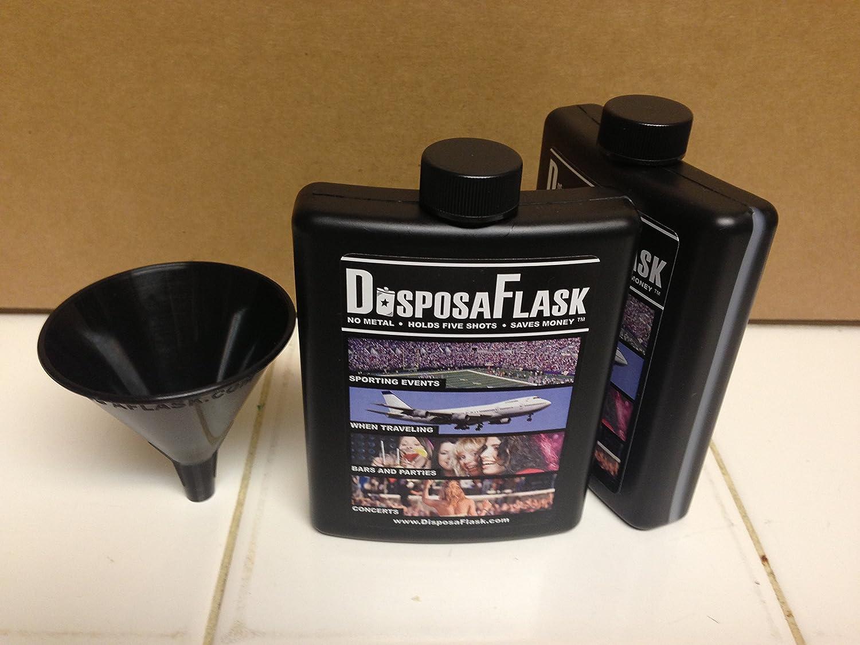 DisposaFlask 380 Flasks Free Bonus Funnels $.75 Per Black
