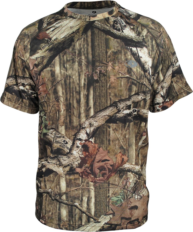 Mossy Oak Men's Camo Short Sleeve Performance Tech Tee Hunting Shirt