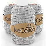 Next ReCotton 500 Stoffgarn Textilgarn uni Farbe grau meliert