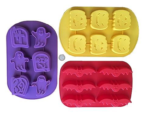 Royal Houseware Set da 3 stampi da forno in silicone per Halloween a forma  di pipistrello 684087c74d8f