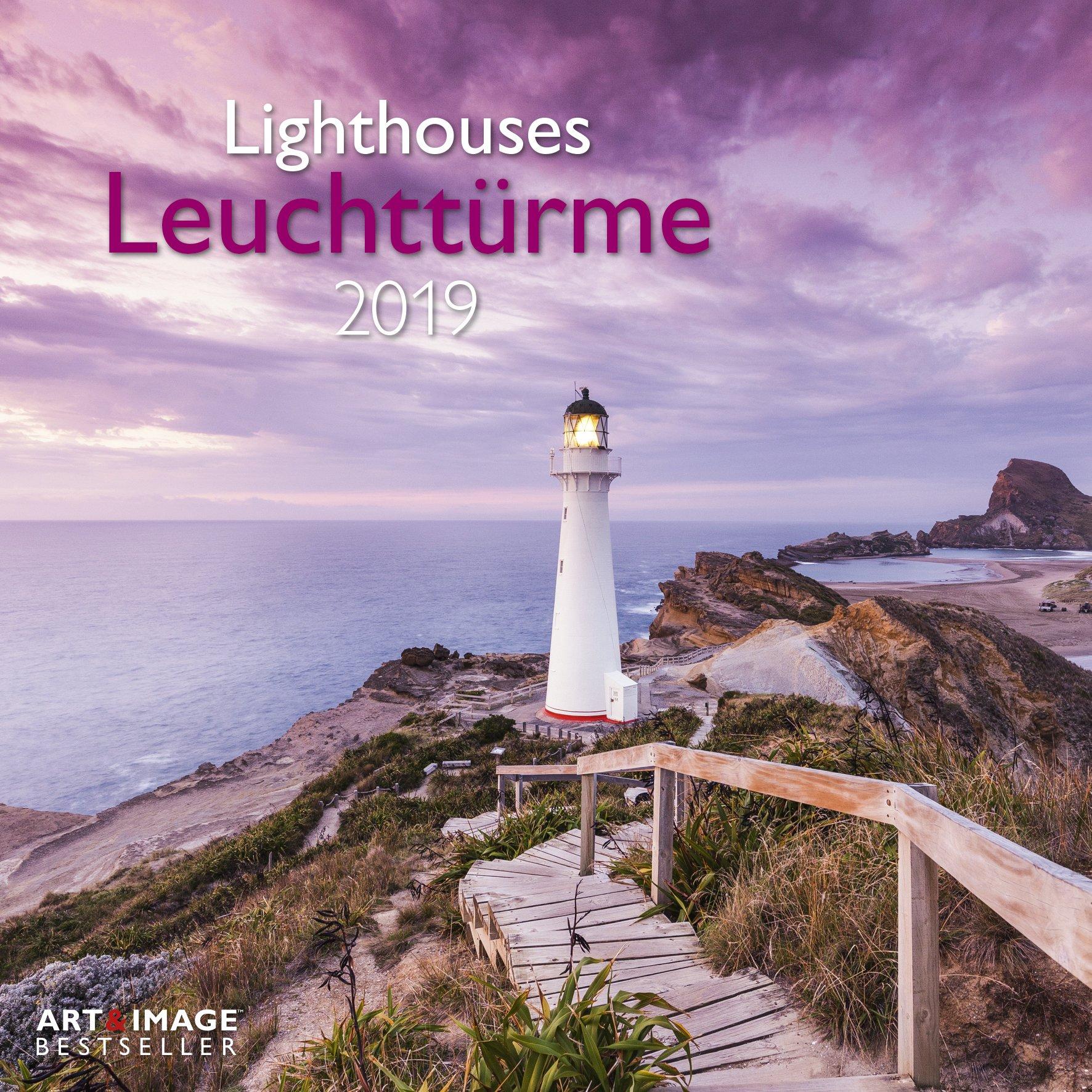 Leuchttürme 2019 - Meerkalender, Strandkalender, Landschaftskalender 2018  -  30 x 30 cm