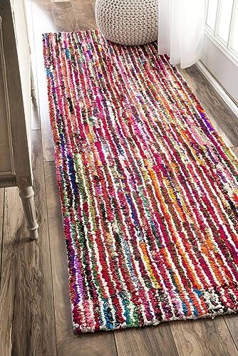 nuLOOM Cotton Candy Boho Runner Rug, 2 6 x 8 , Multi