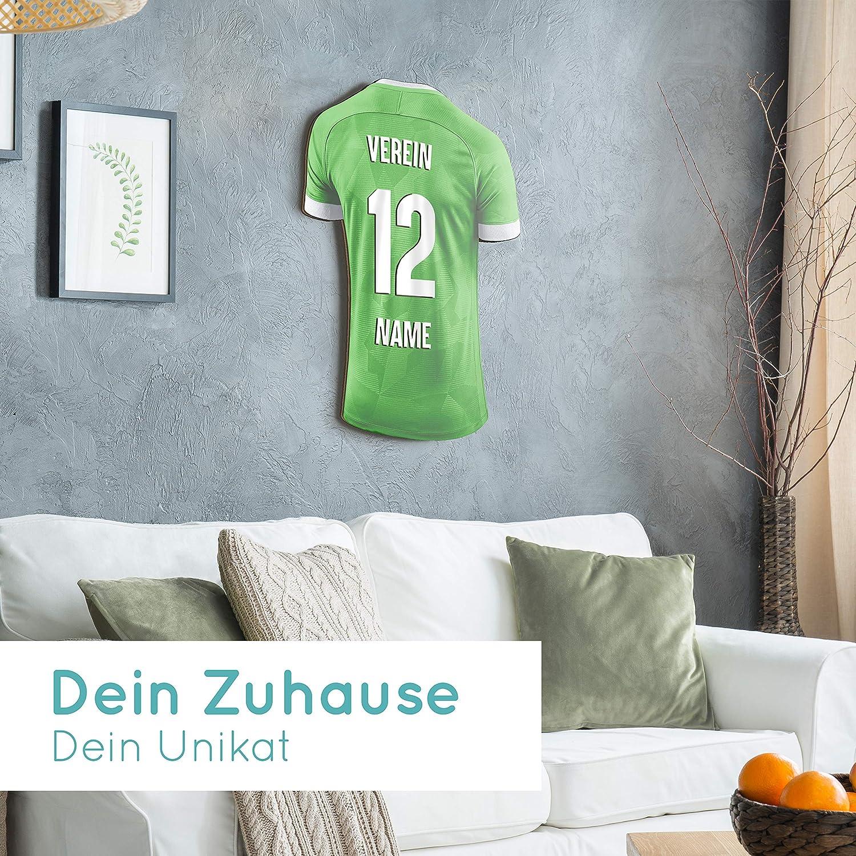 Elbeffekt Trikotlampe f/ür Handball Fans aus Holz personalisierbares Geschenk schenke Dein individuellen Berlin Fanartikel aus Echtholz