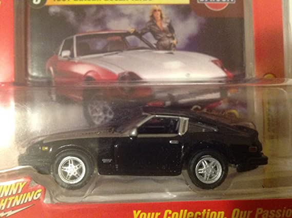 Amazon.com: Johnny Lightning 2016 Classic Gold Collection 1981 Datsun 280ZX Turbo Black/Silver #8: Toys & Games