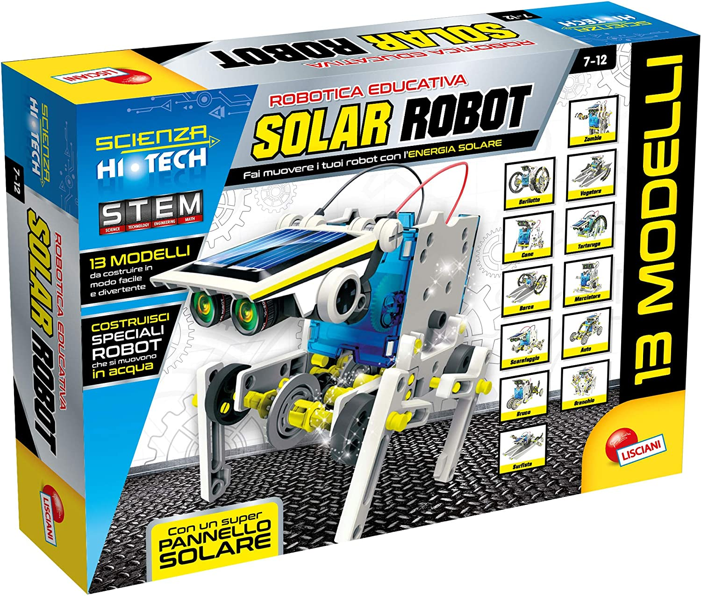 Lisciani Giochi - Scienza Hi Tech Robot 14 Modelos de energía Solar, Multicolor, 73245