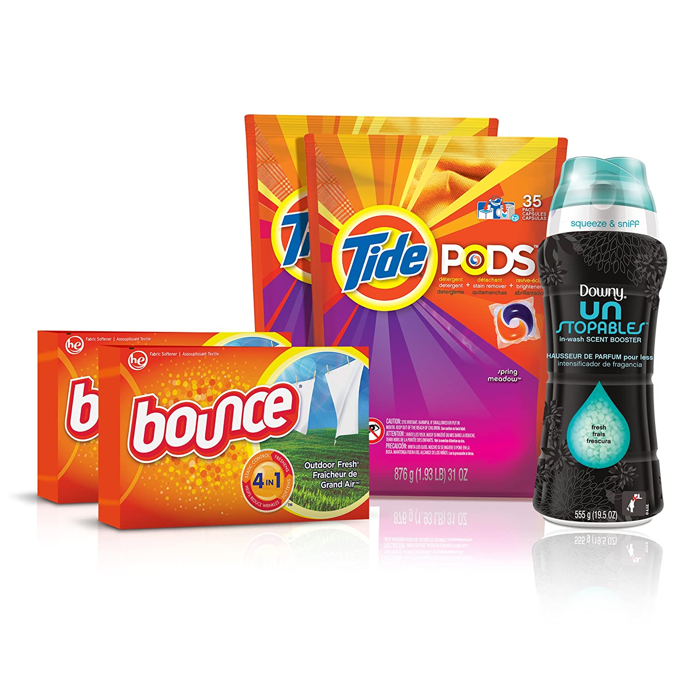 Tide Amazing Laundry Bundle (68 Loads): Tide PODS, Bounce Sheets and Downy Unstopables by Tide B00H8MYRJI