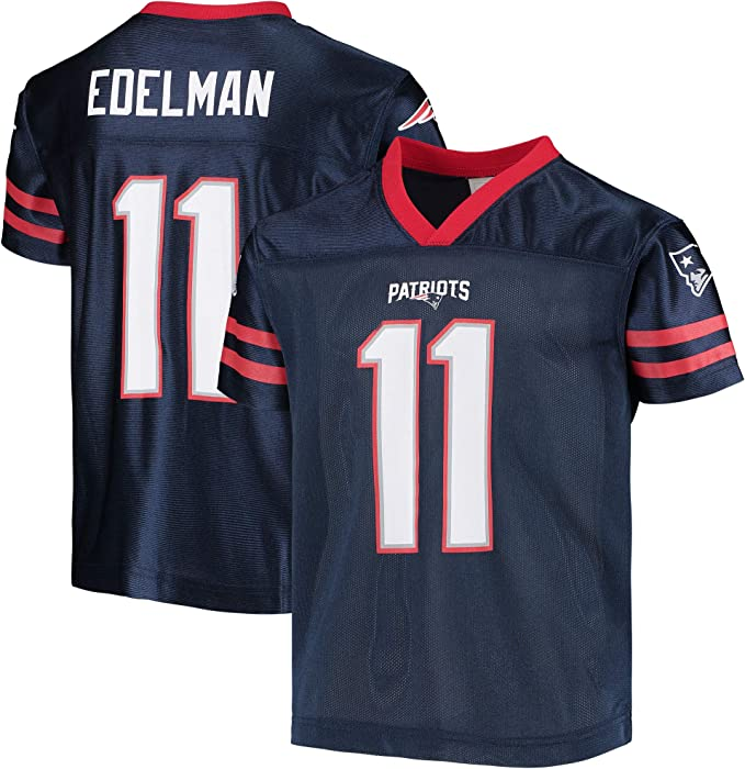 Julian Edelman New England Patriots #11 Navy Blue Youth Home Player Jersey