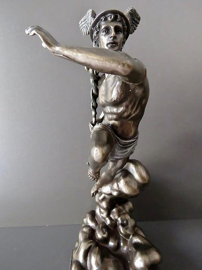 G/&S Poseidon Statuette Neuve en Polyr/ésine du Dieu Grec de la mer /& des oc/éans d/écoration 21cm