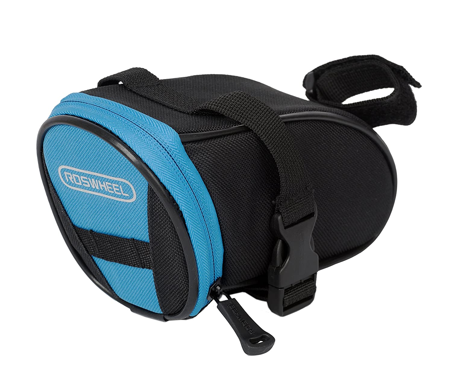 Roswheel Outdoor Cycling Bike Bicycle Saddle Bag Under Seat Packs Tail Pouch (Black-Blue-13656) by Roswheel B00JA7OACS