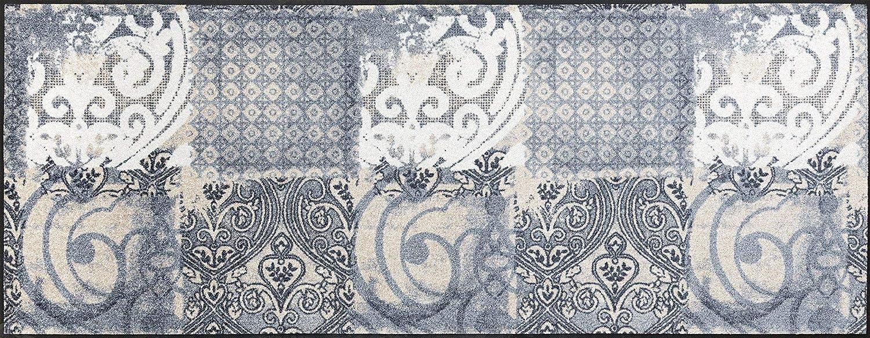 Wash+dry Fußmatte, Acryl, Grau, 75x190 cm