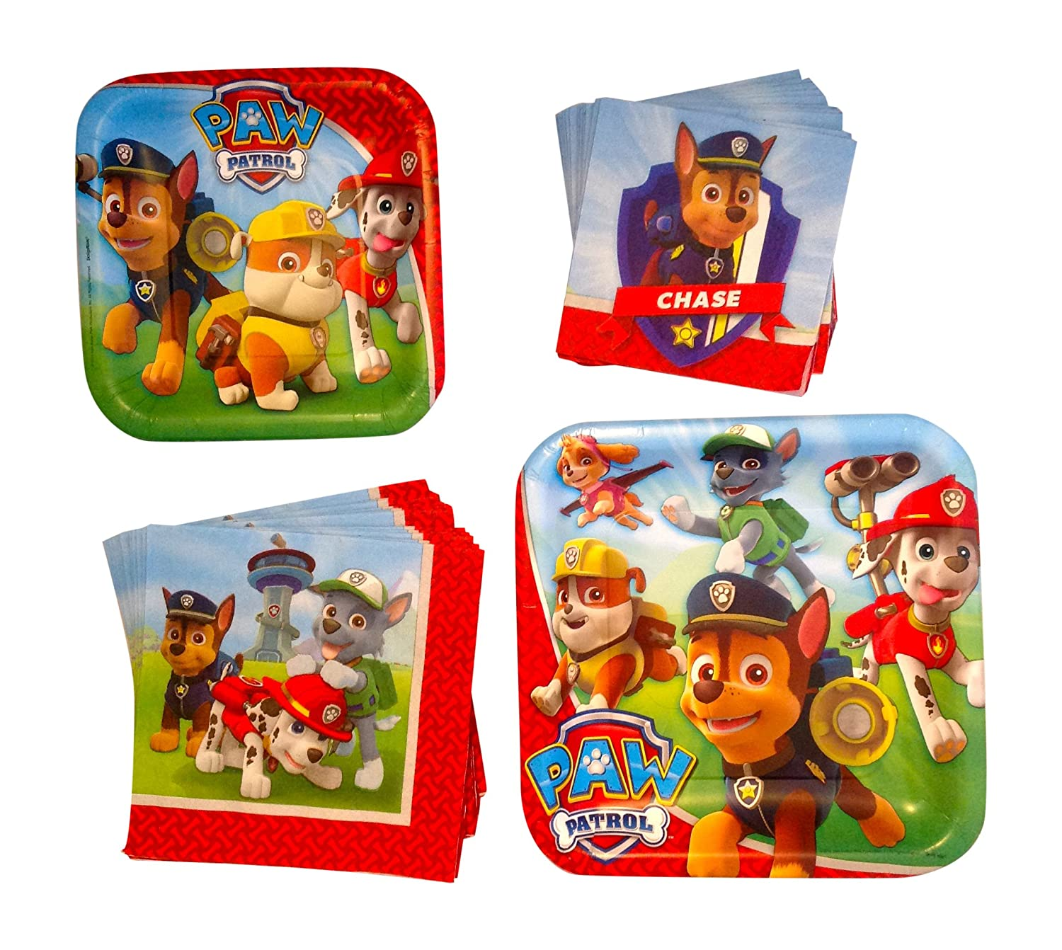 Paw Patrol Birthday Party Paper Plates and Napkins -Bundle for 8 Guests  sc 1 st  Birthday Party Themes & Paw Patrol Party Kits | Birthday Wikii