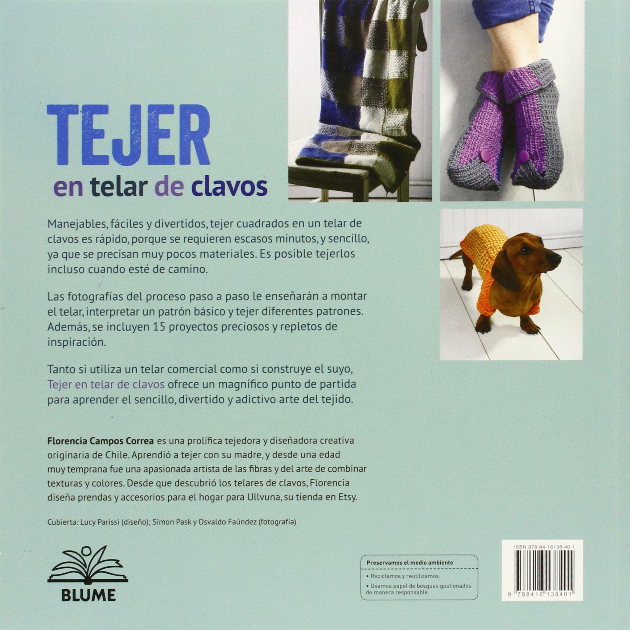 Tejer En Telar De Clavos. 100 Combinaciones De Color Y Mas De 15 ...
