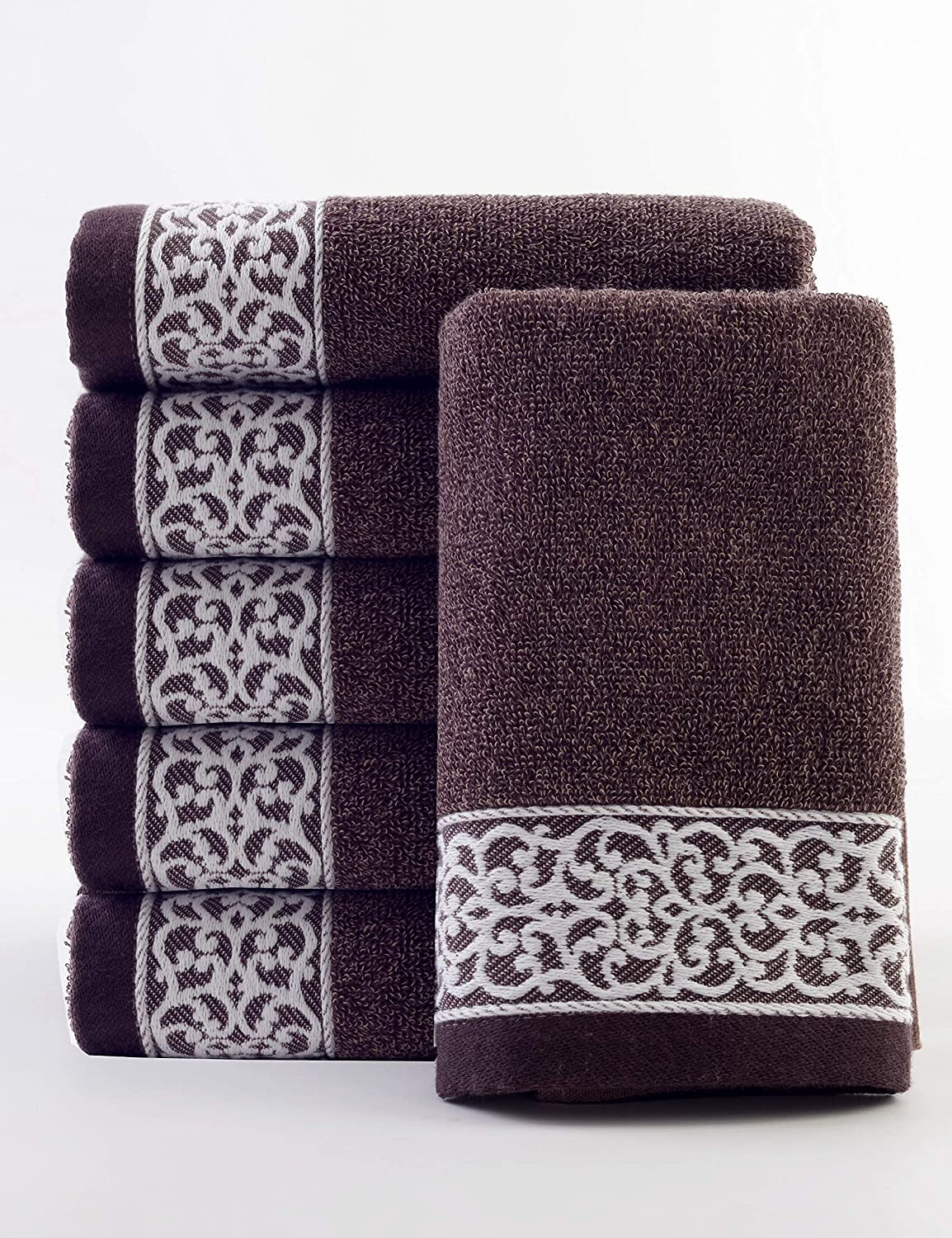 lvse Luxury Decorative European Hand Towel(1-Piece Packed),100% Organic  Cotton 392GSM,Fade Resistant,Soft and absorbently for Men and Women  Everyday