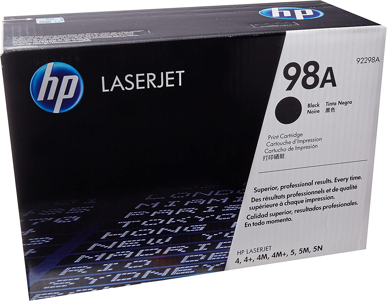HP 98A (92298A) Black Original LaserJet Toner Cartridge DISCONTINUED BY MANUFACTURER