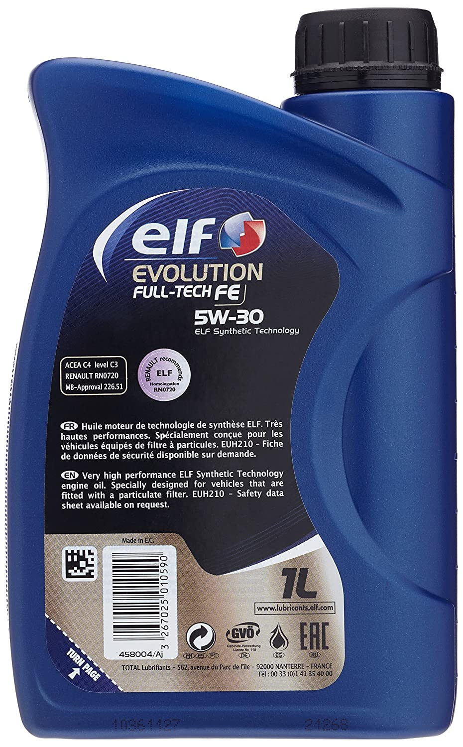 Elf ELSO5301 Evolution Fulltech FE 5W30 1L, 1 litro: Amazon.es: Coche y moto