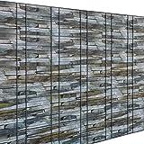 [neu.haus] Film pour clôture protection anti-regards (marron aspect de pierres)(35m)