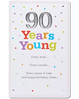 American Greetings 90th Birthday Card With Glitter