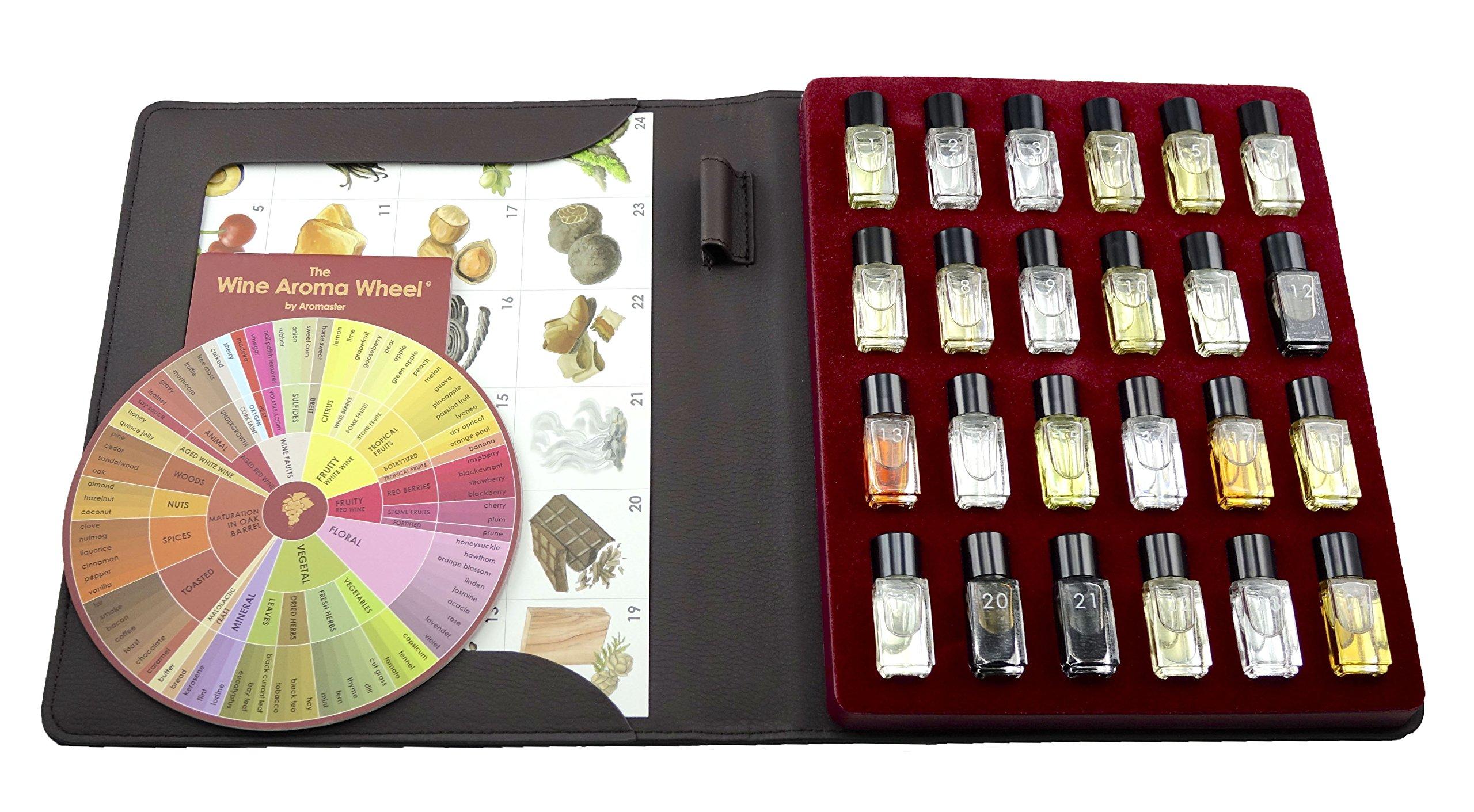 Red Wine Aroma Kit - 24 Aromas (incl. Wine Aroma Wheel) by Aromaster (Image #2)