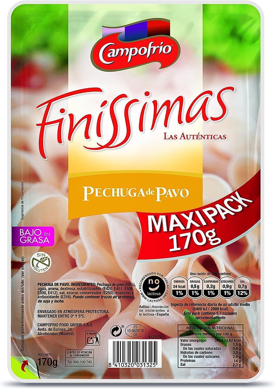 Campofrio Lonchas de Pechuga de Pavo Finíssimas - 170 gr ...