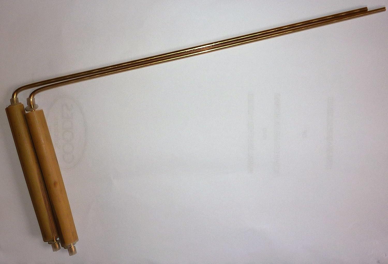 Varillas de radiestesia de bronce con mangos de madera de bambú.: Amazon.es: Hogar