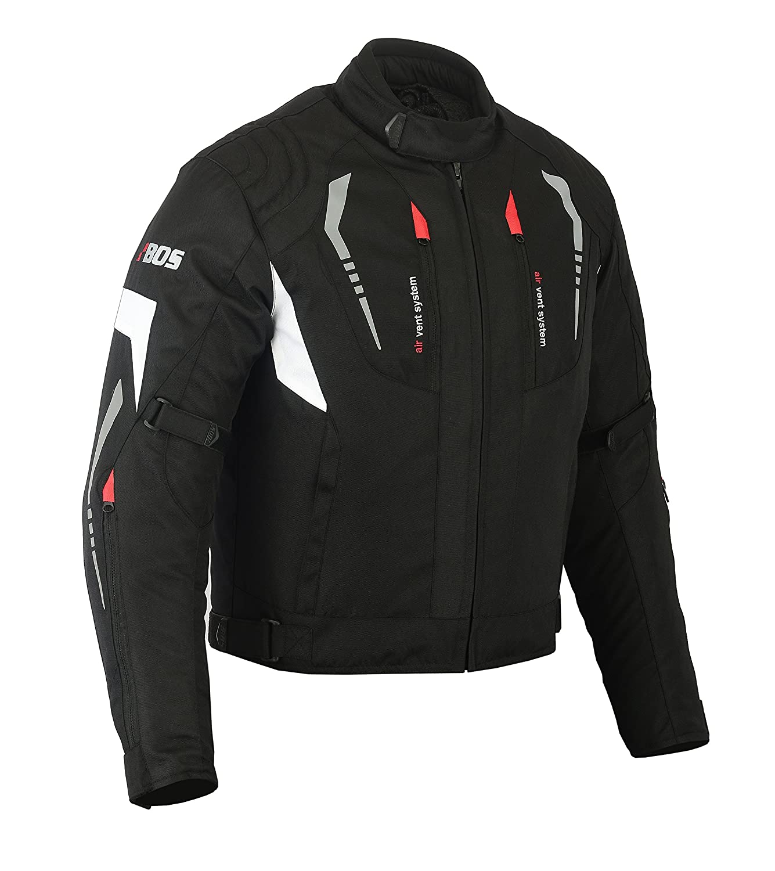 MOTORRADKOMBI JACKE + HOSE - AUS TEXTIL /CORDURA fü r Motorrad Biker Chopper Cross (M, WEISS) BOSMoto valumon