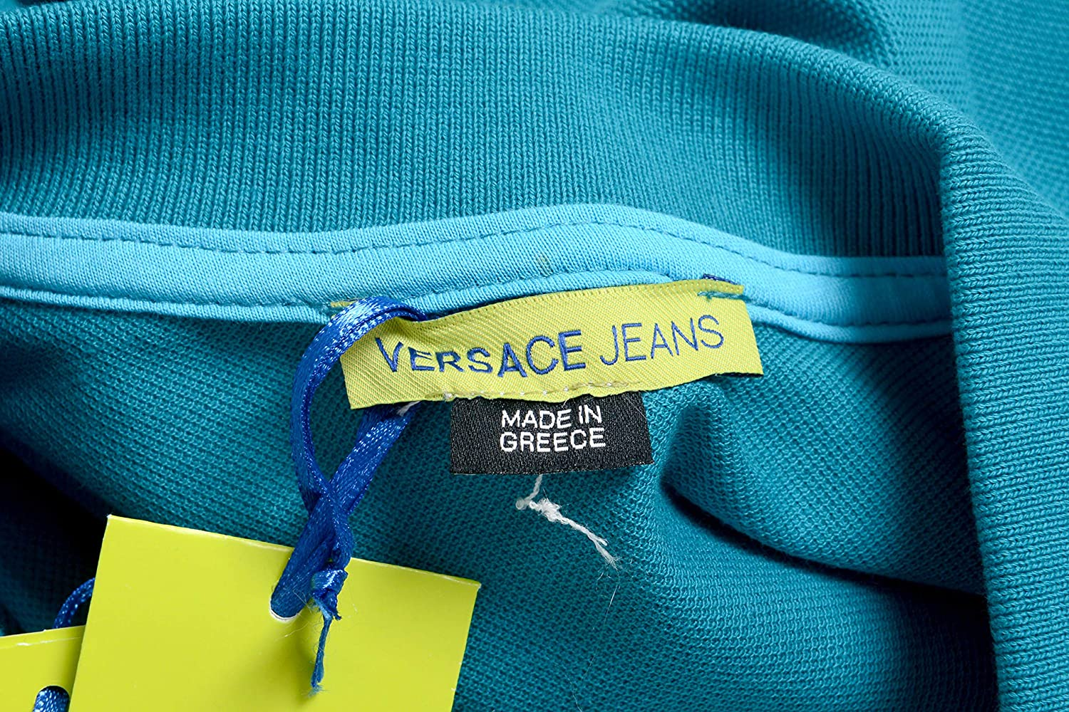 Versace Jeans Mens Green Short Sleeve Polo Shirt Size US XL IT 54