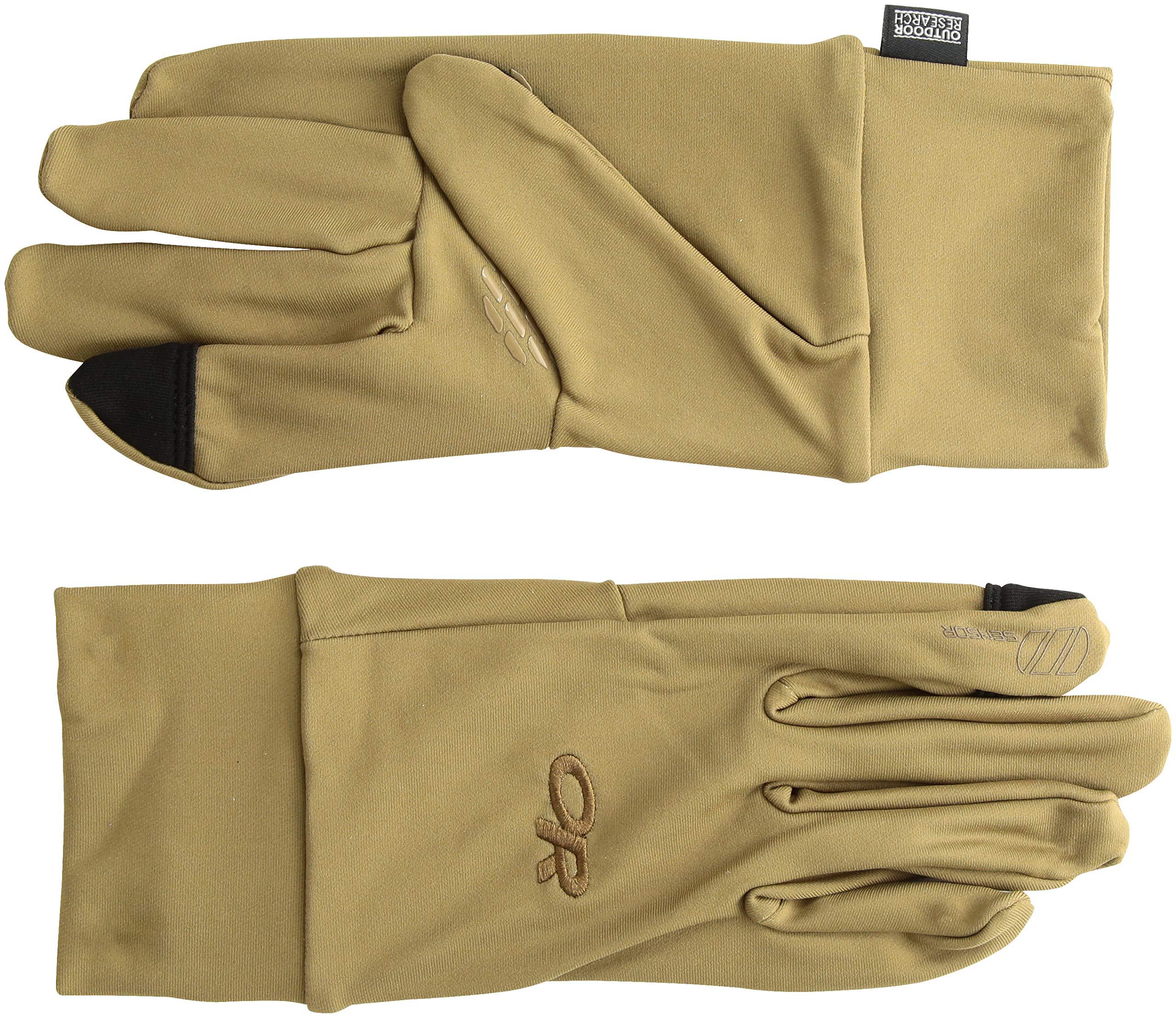 Outdoor Research Men's PL Base Sensor Gloves, Coyote, X-Large