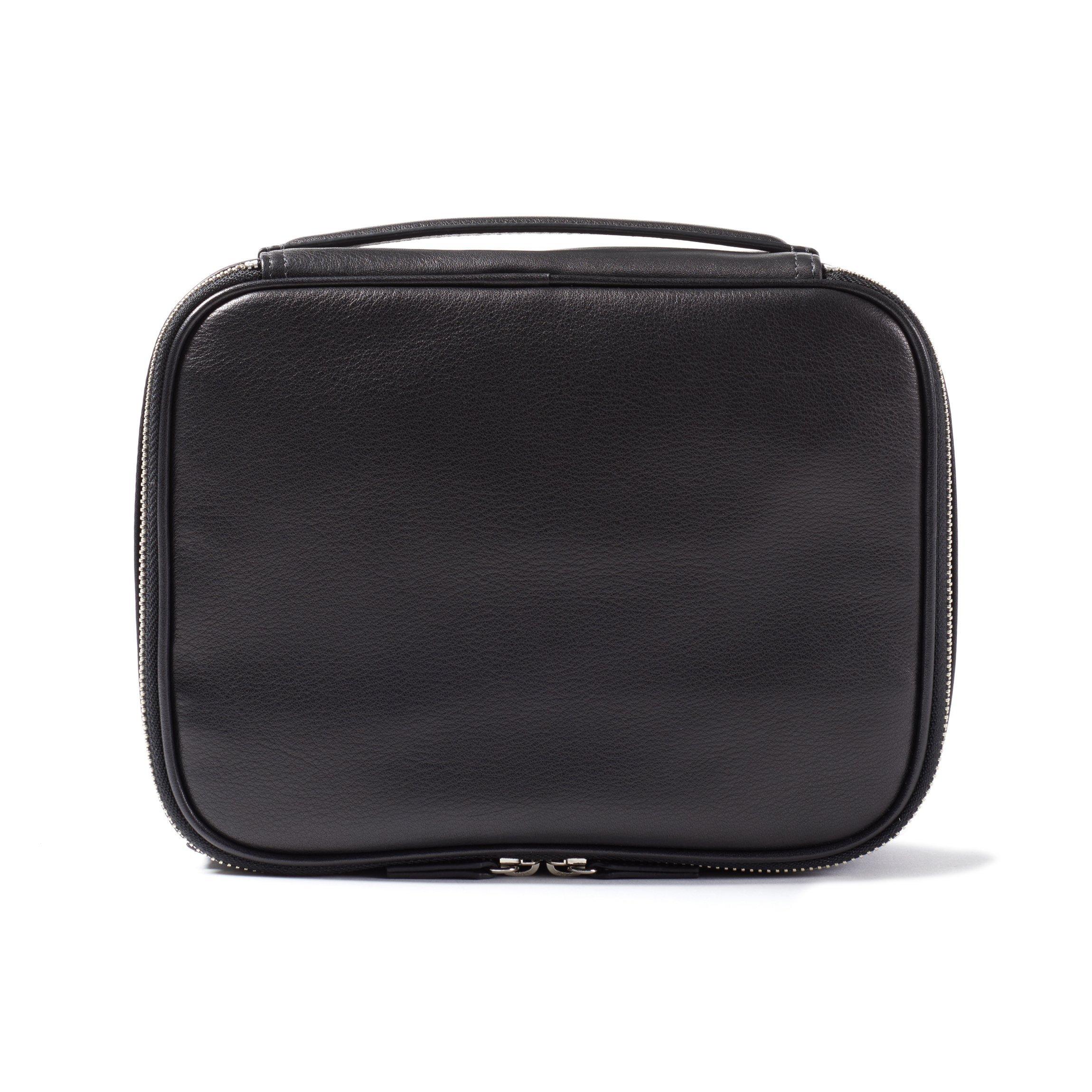 Leatherology Large Tech Bag Organizer - Full Grain Leather Leather - Black Onyx (black)