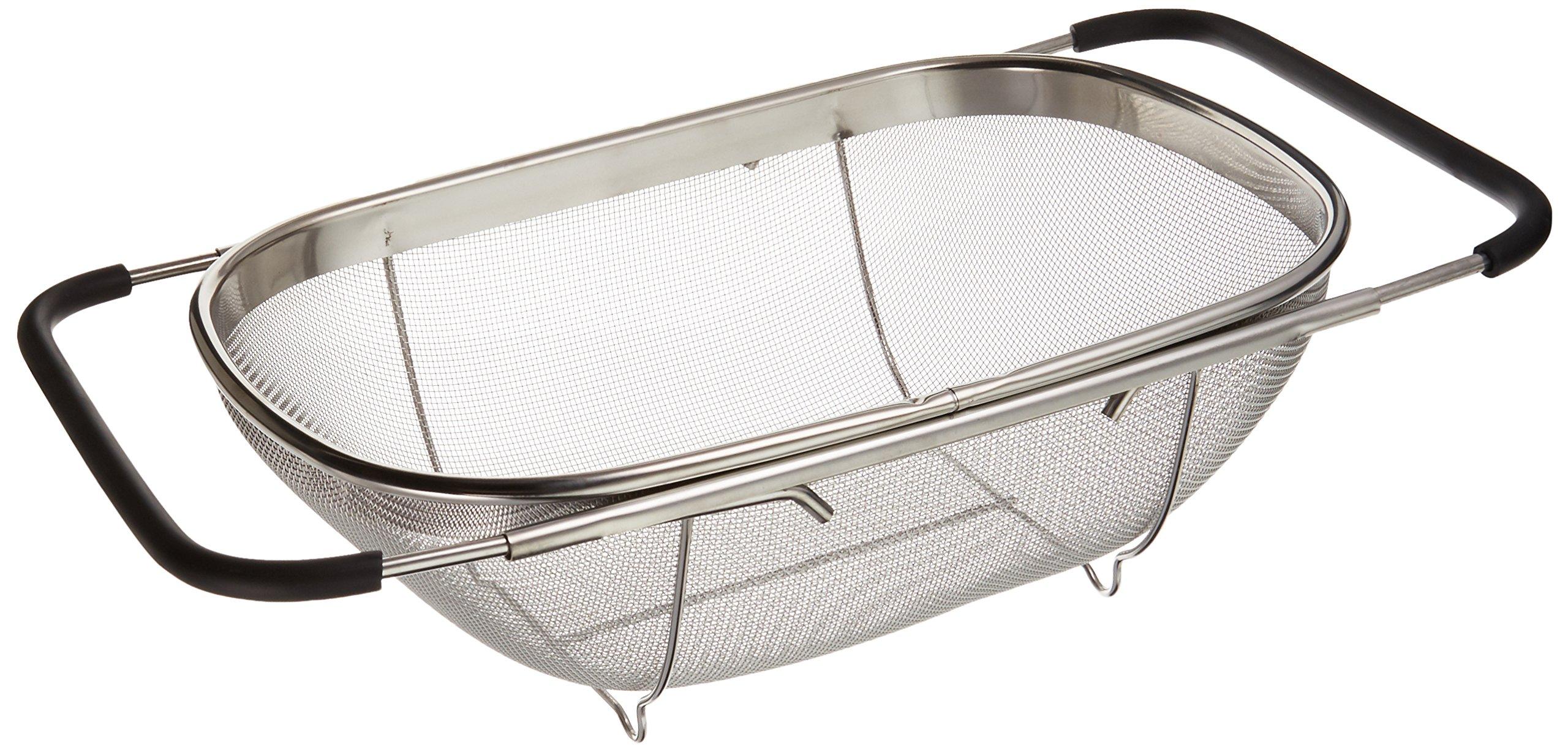 Over Sink Stainless Steel Adjustable Colander Strainer by Uniware