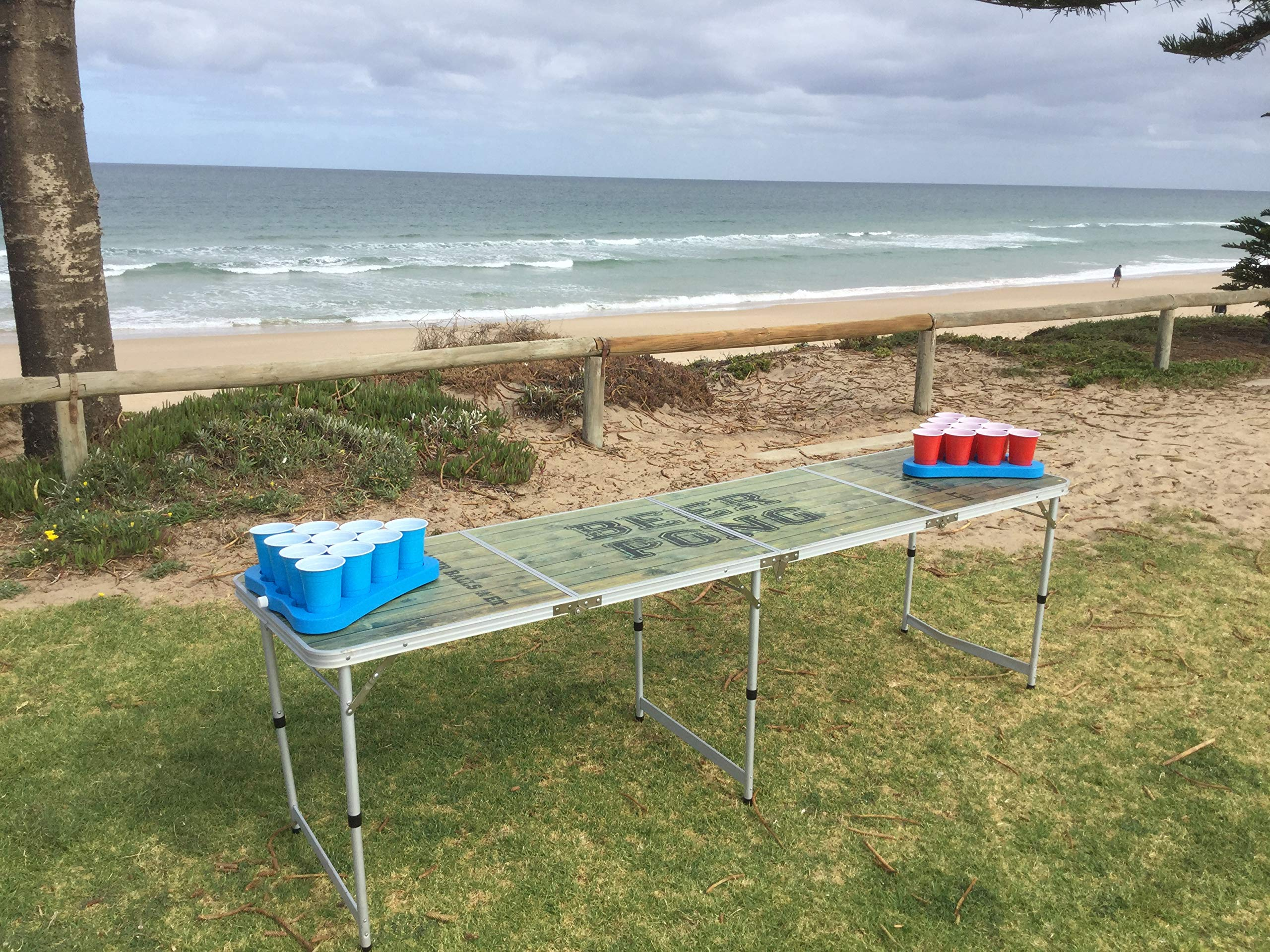 Original Party Supplies Freezable Beer Pong Rack Table Top, 2-Pack, 10 Cup Capacity Each Side by Original Party Supplies