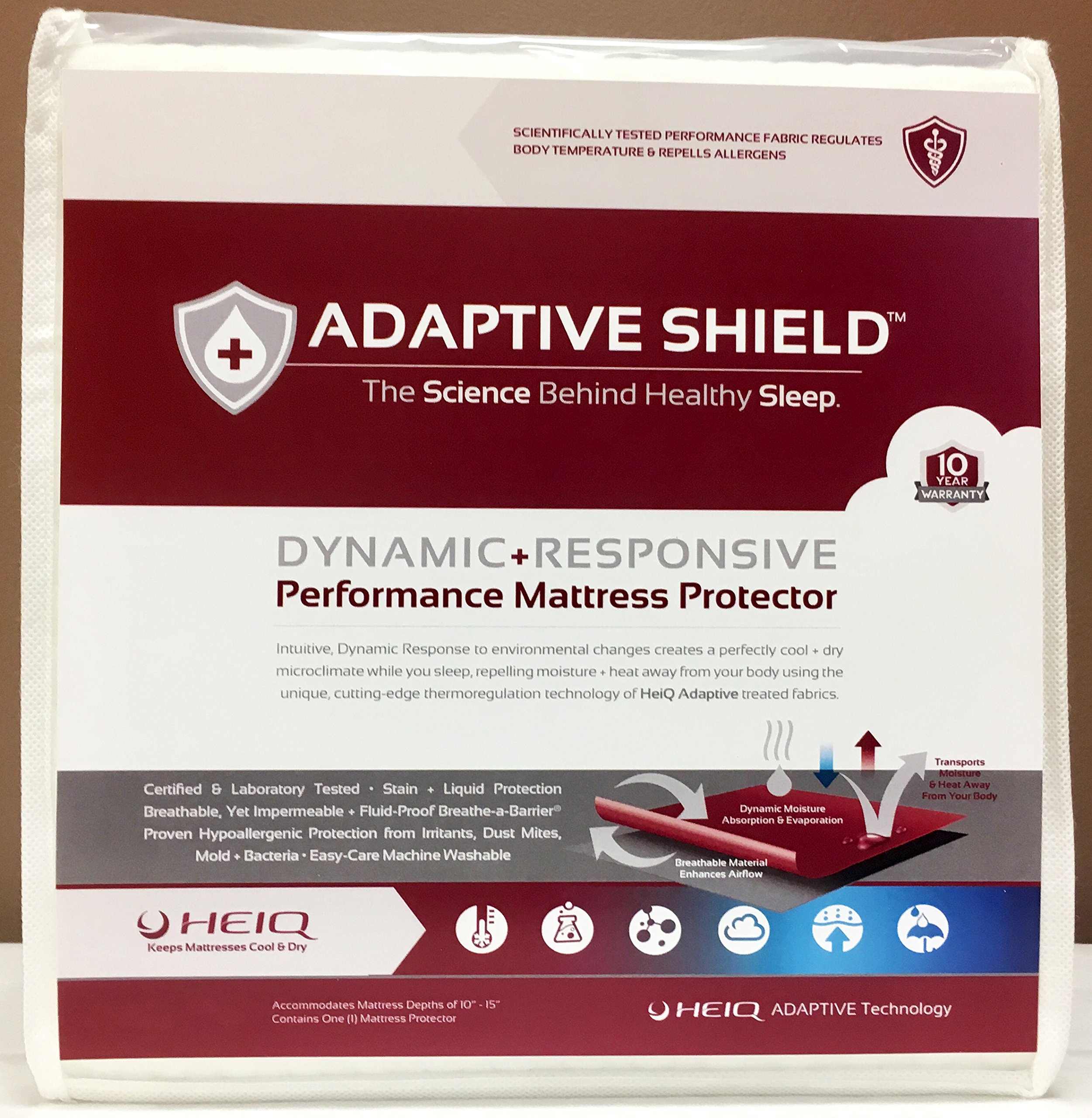 Adaptive Shield Premium Performance Mattress Protector - Lab Tested Allergy Free and Waterproof, Vinyl Free Noiseless Sleep, Crinkle Free, Machine Washable, and Compatible with All Mattresses (King) by Adaptive Shield, Inc. (Image #7)