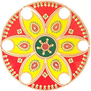 Ethnic Avenue 13 Piece Rangoli Diwali Decoration - Handmade Acrylic Home Decor Accents for Floor/Wall/Table