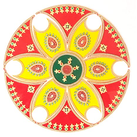 Amazon Com Ethnic Avenue 13 Piece Rangoli Diwali Decoration