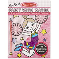Melissa & Doug My First Paint With Water Art Pad - Cheerleaders, Flowers, Fairies, and More (24 Pages)