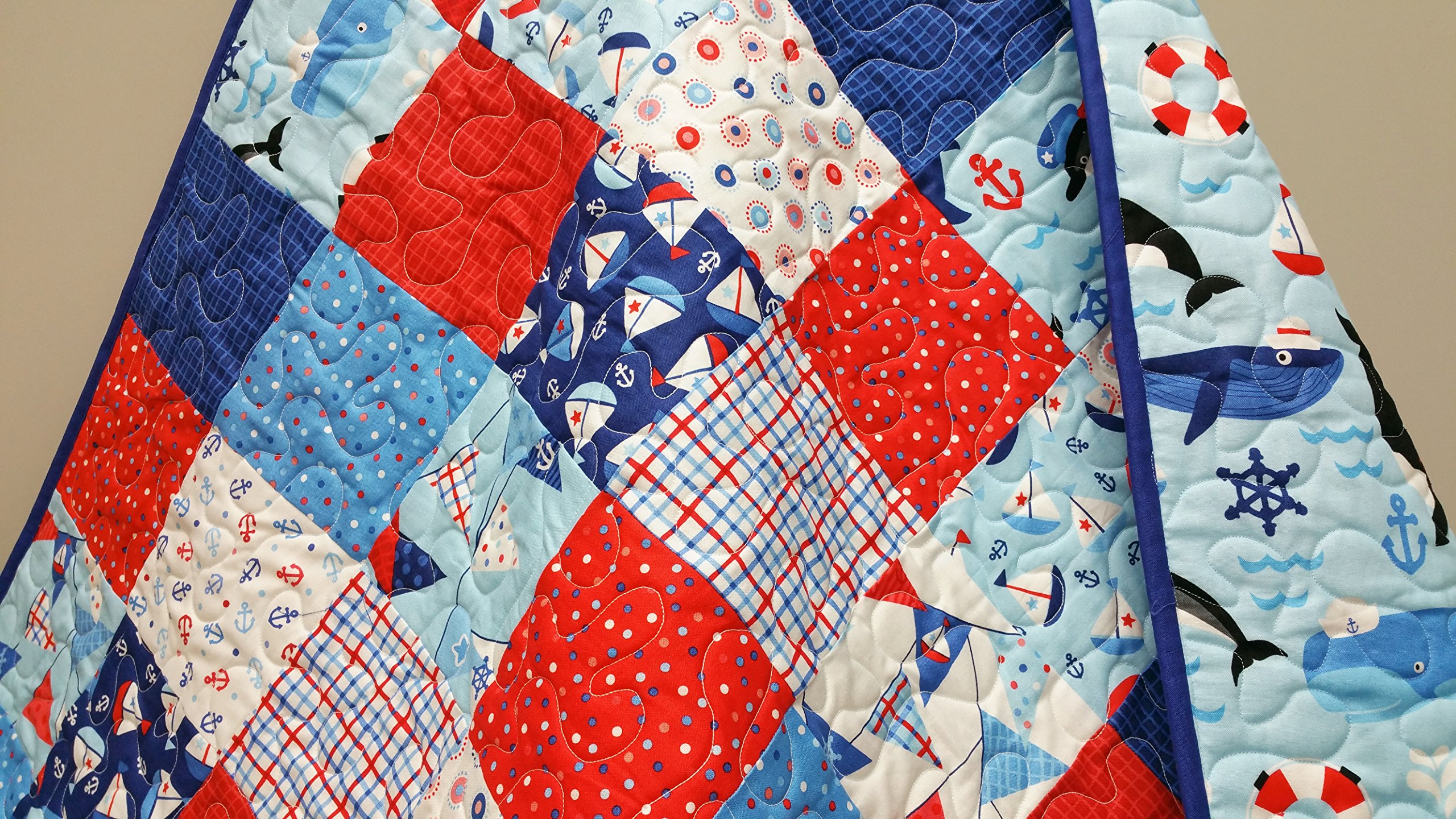 Nautical Baby Toddler Quilt