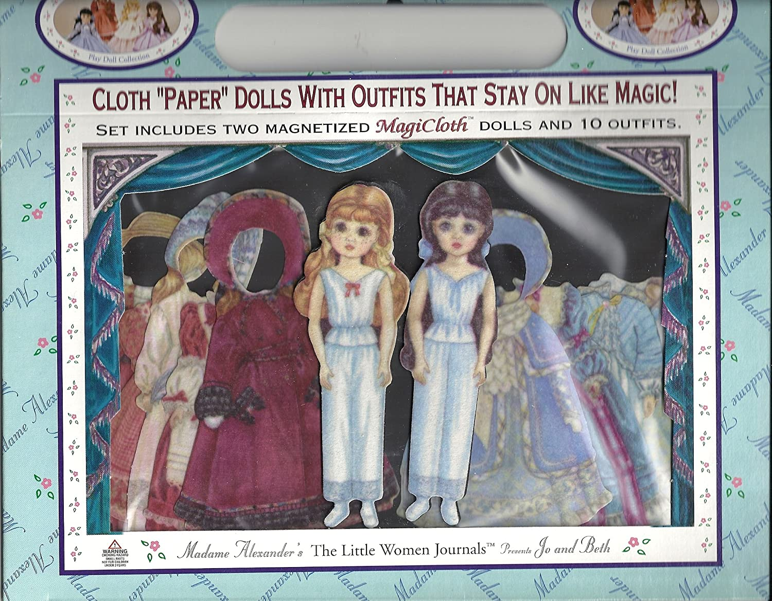 Madame Alexander MagiCloth Doll Collection The Little Women Journals Presents Jo and Beth