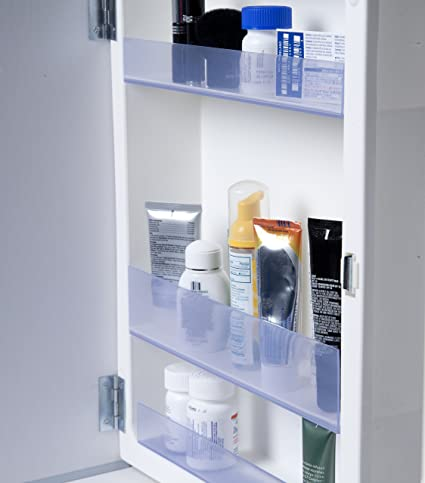 SHELF LOCK: 3 Medicine Cabinet Shelf Guard Attachments (Medicine Cabinet  NOT INCLUDED)
