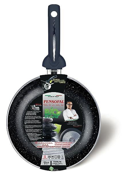 Pensofal Biostone Sartén, Cuerpo en Aluminio, Negro, 20 cm