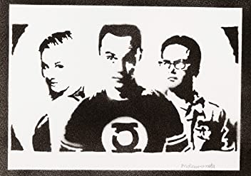 The Big Bang Theory Sheldon Penny And Leonard Poster Handmade Graffiti Street Art - Artwork
