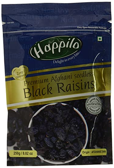 Happilo�Premium Afghani Seedless Black Raisins, 250g